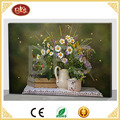cheap hot selling beautiful flower canvas painting design, light up canvas painting with new design