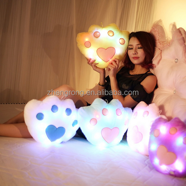 Super Grade Inflatable Bed Backrest Pillow With LED