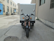 Big Power Hot Sale China Cloesd Box Three Wheel Cargo Tricycle Motorcycle
