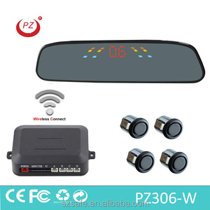 wireless car LED rear view mirror reverse parking sensor