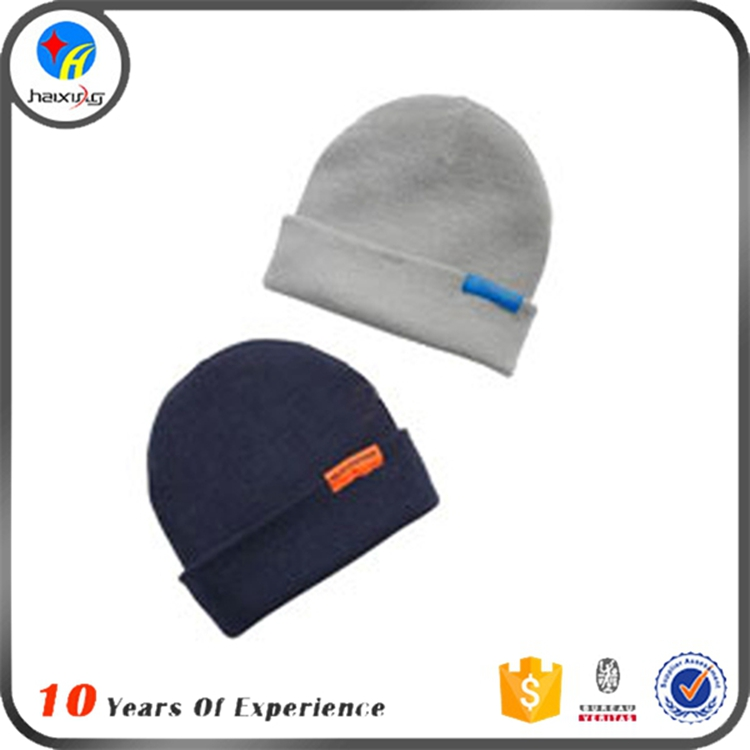Custom Made Cheap Acrylic Winter Knit Hat and Cap Beanie Hat