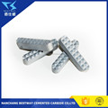 Carbide jaw gripper for foot clamp