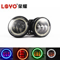 "color changing car led fog light 4"" led drl fog light for Jeep Wrangler"