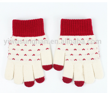 Good quality fashion winter glove keep warm phone and pad touch screen glove