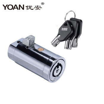 high security master key tubular cylinder lock for vending machine