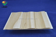 2015 New mould curve 3 waves laminated pvc panels 25CM*9MM