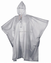 Reusable Adult PVC Rain Poncho with logo printing for Promotion