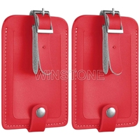 Customized Real Leather Luggage Tag with Snap