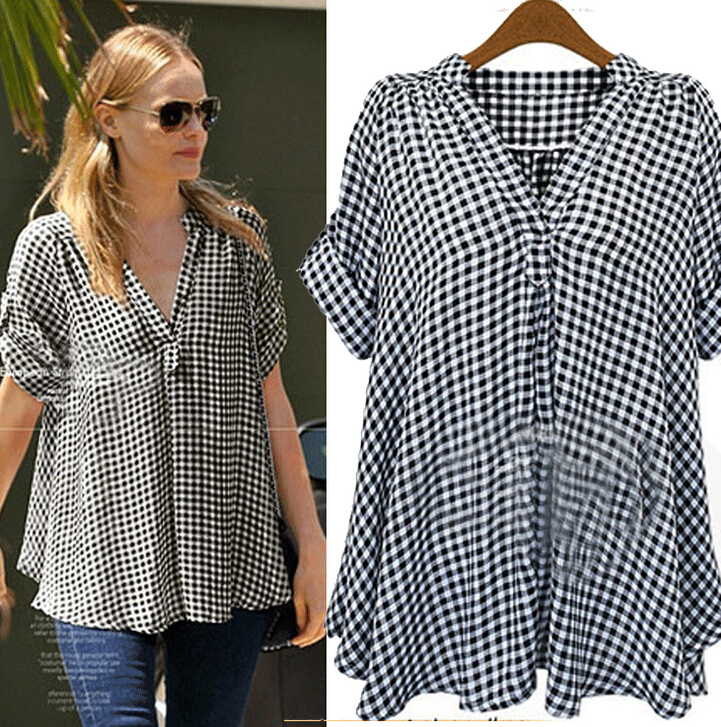 2016 SUMMER BIG SIZE BLOUSE FOR WOMAN SHIRTS