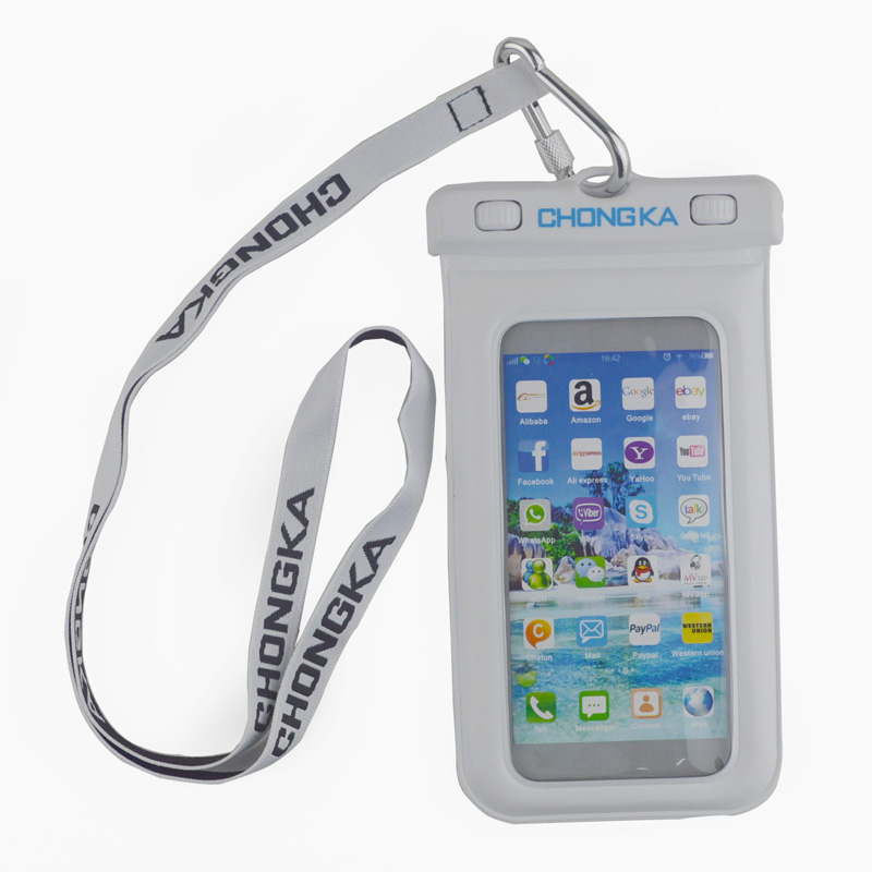 China Supplier Cheap PVC Waterproof Phone Case With Strap