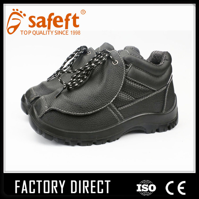 Black Camouflage lace up work material injection safety boots/shoes