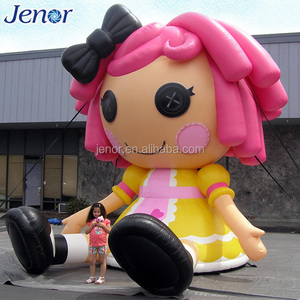 Giant Inflatable Cartoon Character A Beautiful Girl for Birthday Party