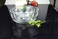 High quality glass container food bowl