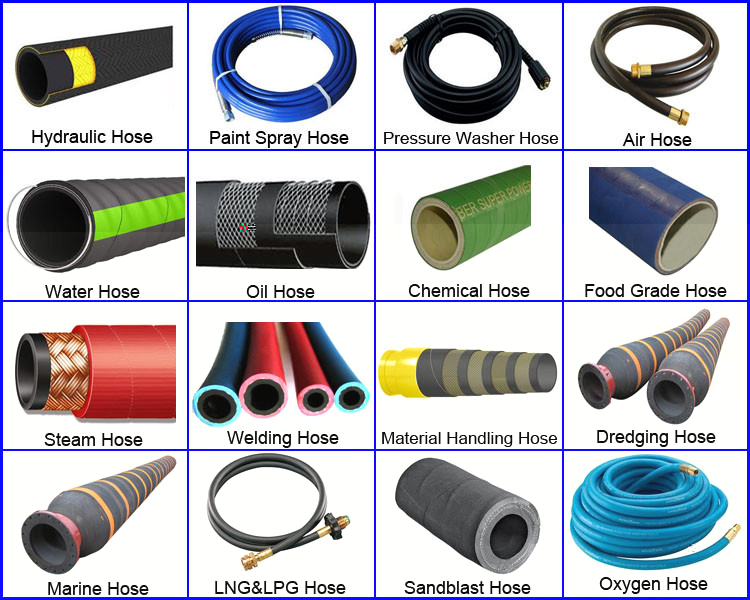 Flexible steel wire reinforced high pressure washer hose