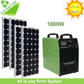 Factory price Solar power system home with inverter panel battery dc charger light