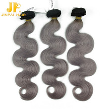 New Arrival Super Star Style Grey Brazilian Hair Weave Wholesale