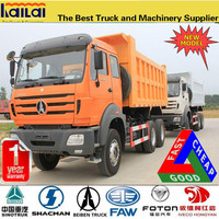 2016 New model beiben 30 ton 10 wheel dump truck with low tipper lorry price