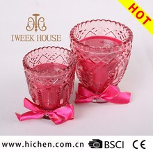 Home decorative scented natural soy wax artificial candles