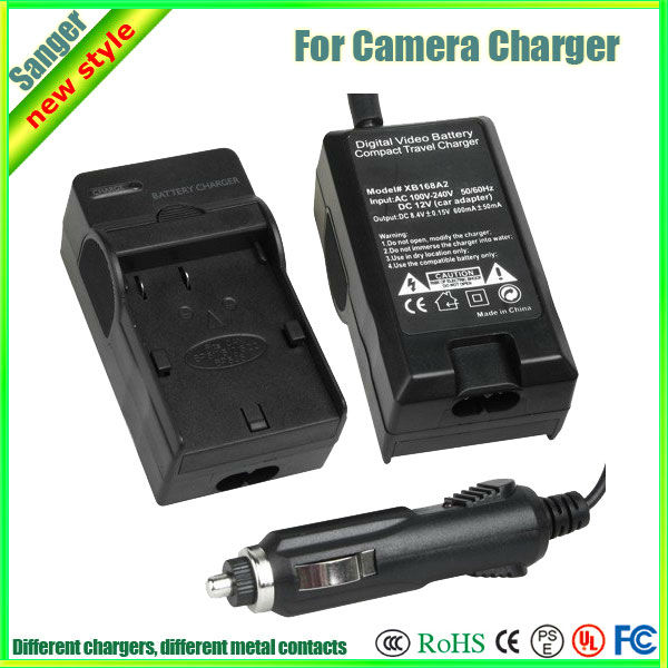 Digital Camera Battery Charger For Casio NP-80(Car charger+wall charger)