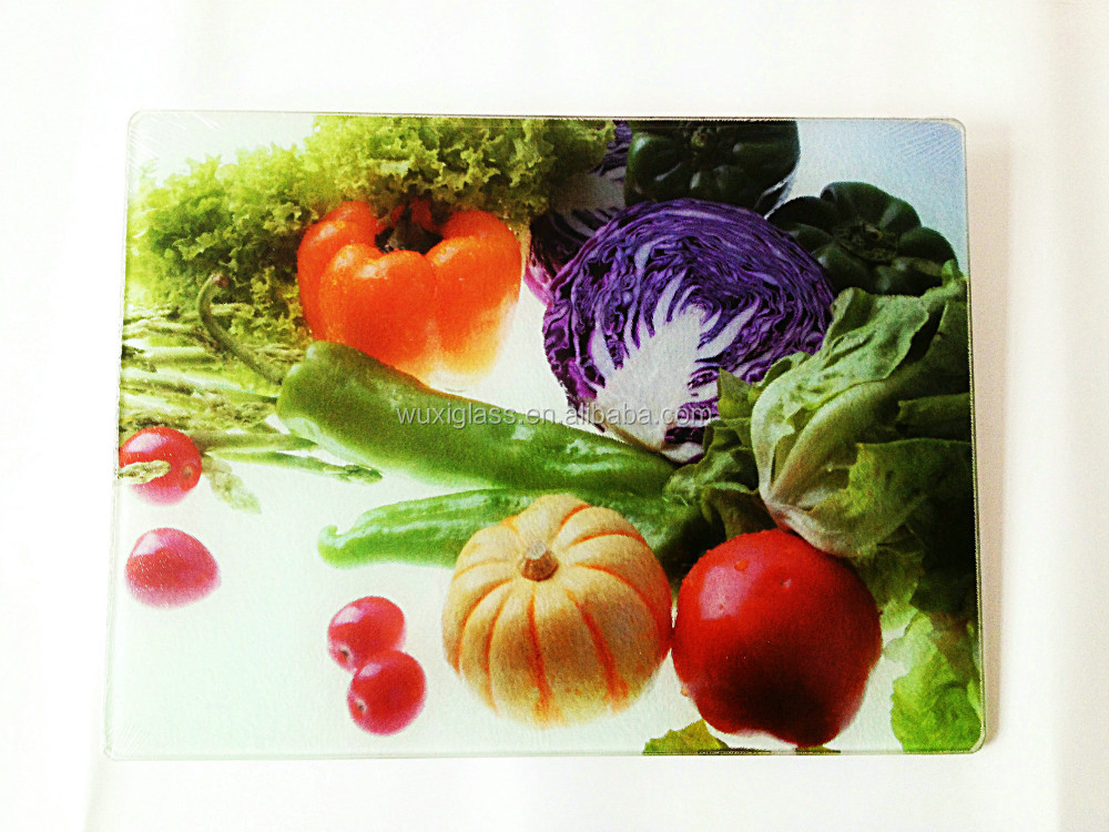Glass Cutting Board,different kinds of vegetables