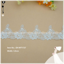 Off white water dissolving Polyester Indian embroidery lace trim DH-WT1727