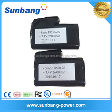 Rechargeable Lithium Ion18650 battery pack for clothes Vest heating