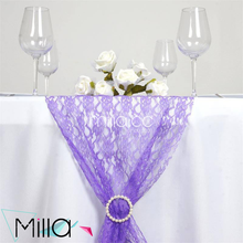 Wholesale cheap lace table runners for showground birthday party hotel