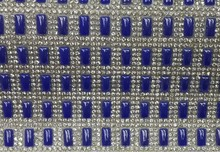 Dark blue strass motif hot fix rhinestone design SS8 stones and 5*10mm beads 24*40cm/roll