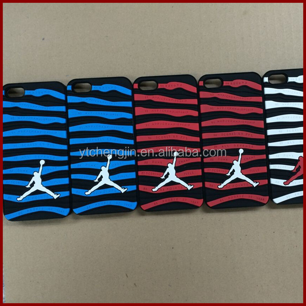 Different colours of jordan retro 10 shoe design cell phone case