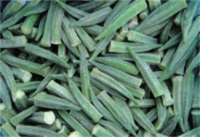100% high quality IQF frozen okra