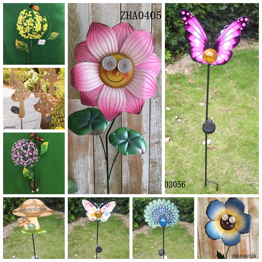 2017 hot sales Metal Solar Power Wind Spinner garden solar light