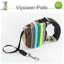 4.5M Auto Retractable Pet Leash Color Striped Extending Dog Lead Flexible Outdoor Sports Training Harness