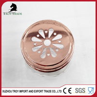 Multifunctional white mason jar metal lids flower printed China Supplier