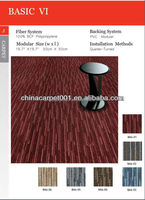Hot Sale Good Quality Durable Commercial Pvc Backing PP Carpet Tiles (BA6 Series)