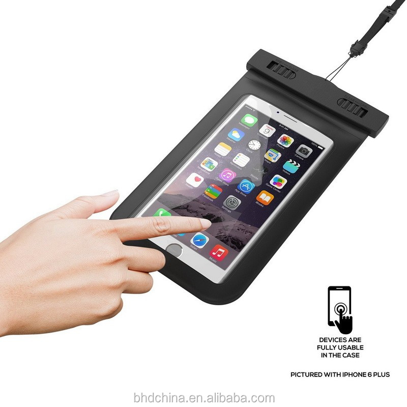 Universal Waterproof Pouch Bag Case With Rope Clear Watertight Case For <strong>Iphone</strong> 6 6s Plus Underwater Full Protect Case Cover Capa