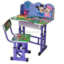 Cartoon Pictre PB Material Kids Bedroom Furniture Set For Study