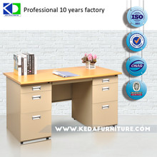 Modern wood office desk/ metal office table design