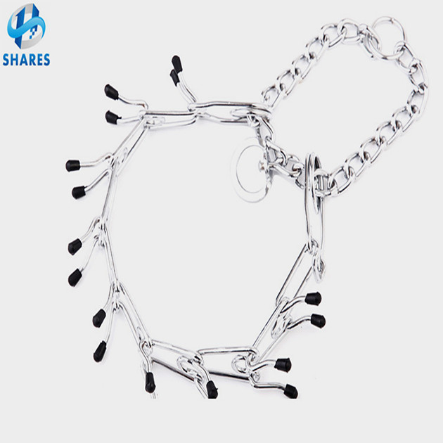 Pet Supplies Wholesale High Quality Cap Prong Ends Metal chain Dog Training Collar, Wholesale chain dog collar
