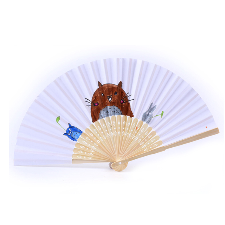 FQ brand Promotion gift bamboo custom printed paper folding hand fan