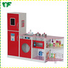 Top quality kids wooden kitchen pretend playset