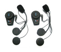 2x500M Motorcycle BT Bluetooth Multi Interphone Headset Helmet Intercom Handfree