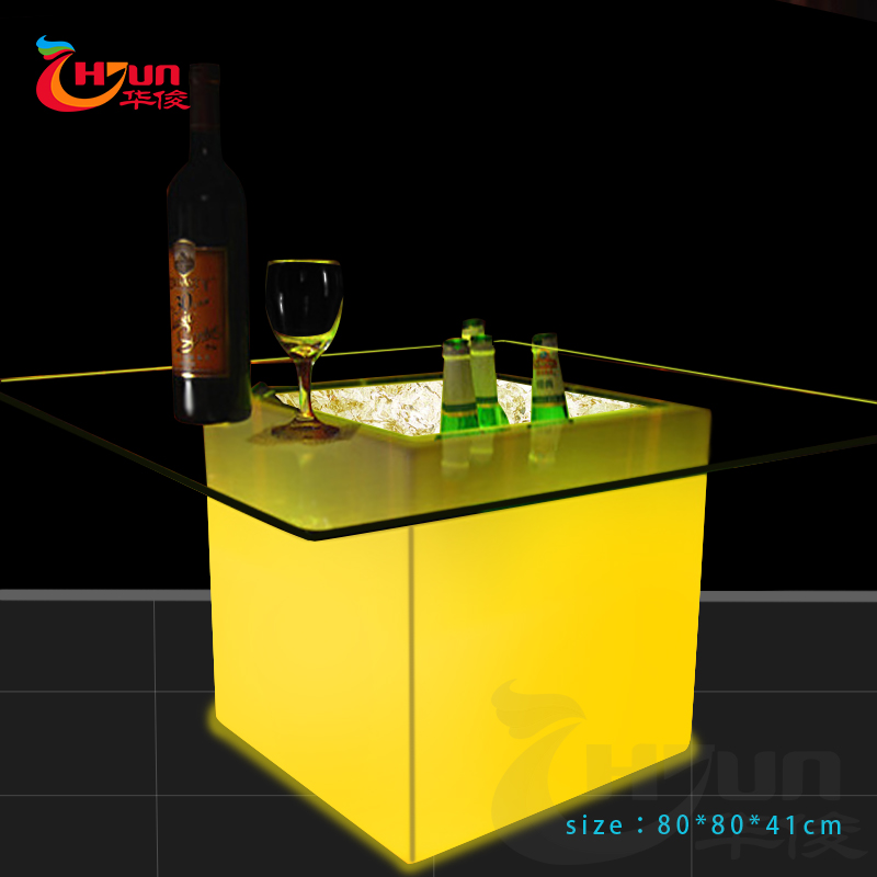 sectional wine ice bucket/ water proof storage container/led illuminated wine ice bucket
