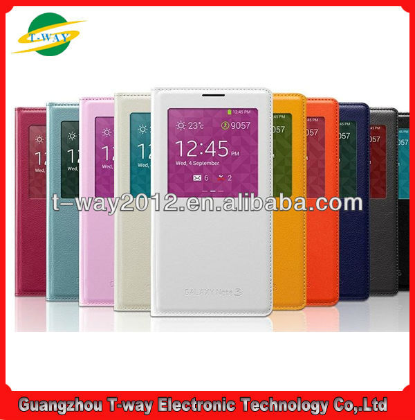 Good selling retro book leather case for samsung galaxy note 3