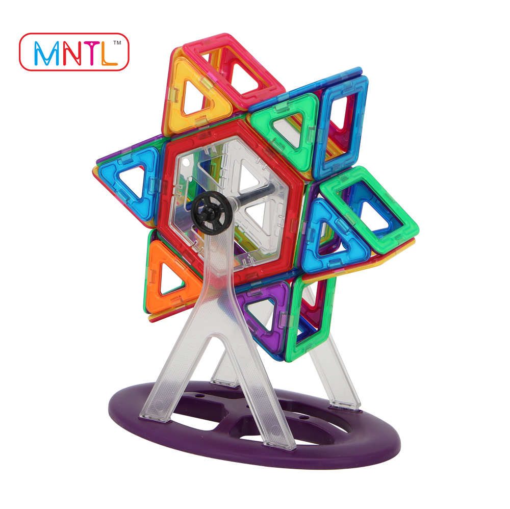 MNTL 46-PCS Hot Sales Magnetic Blocks Toys 3D DIY Magnetic Composite Illustrations Educational Jigsaw Puzzles
