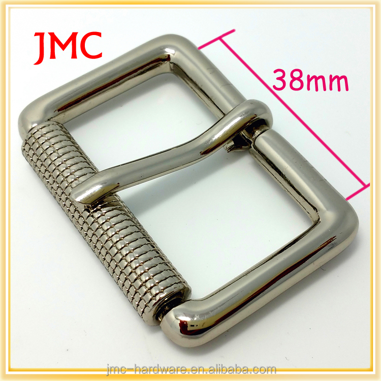 fashion 38mm alloy silver roller pin belt <strong>buckles</strong> for women in stock