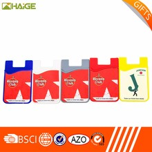Wholesale Sticker Smart Wallet Mobile Phone Silicone Case Wallet
