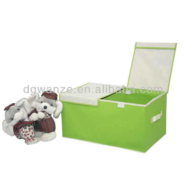 Customized Non woven Fabric collapsible storage box with lid
