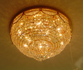 China wholesale crystal lights living room ceiling lamp VOL