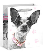 Candy stripe paper bags coloured paper bags Lovely dogs printed paper shopping bags