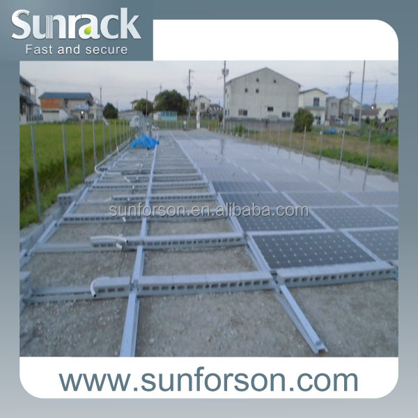 solar panel photovoltaic mount system with ballast block